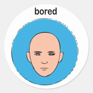 bored round sticker