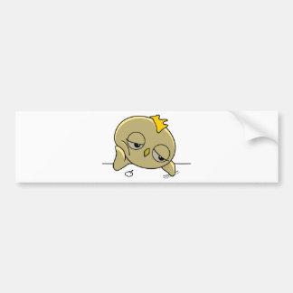 bored sad chick bumper sticker