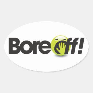 Boreoff Oval Sticker