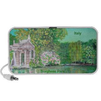 Borghese Park Rome Doodle Laptop Speaker