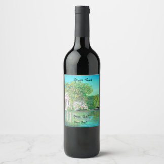 Borghese Park,  Wine (or Champagne) Bottle Label