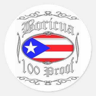 Boricua 100 Proof2 Sticker