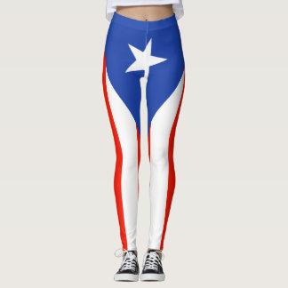 Boricua Bandera Flag Puerto Rico 5Julio Leggings