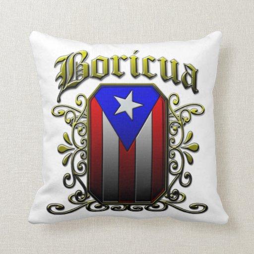 Boricua Throw Pillow