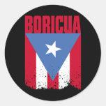 Boricua Flag Classic Round Sticker