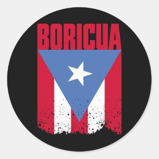 Boricua Flag Round Sticker