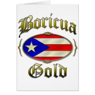 Boricua Gold Greeting Card