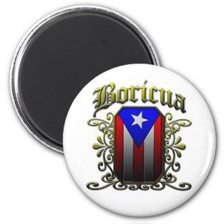 Boricua 6 Cm Round Magnet