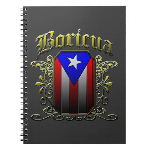 Boricua Spiral Note Book