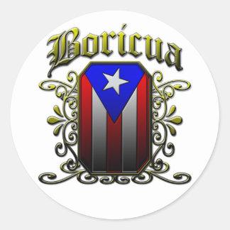 Boricua Round Sticker