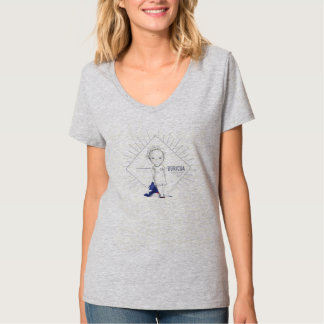 Boricua V-Neck T-Shirt (Steel Grey)