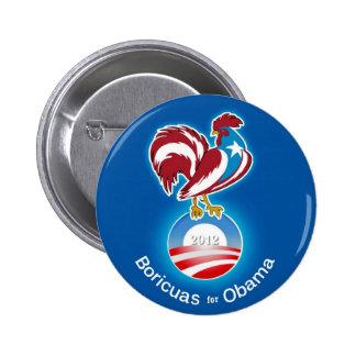 Boricuas for Obama 2012 6 Cm Round Badge