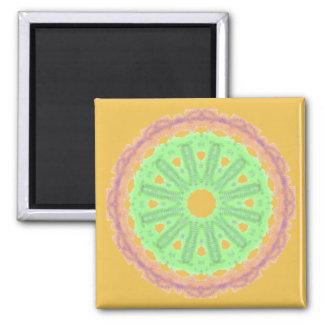 Boring abstract circle pattern square magnet