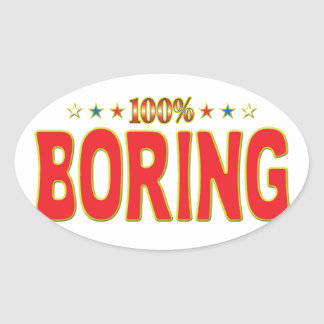 Boring Star Tag Stickers