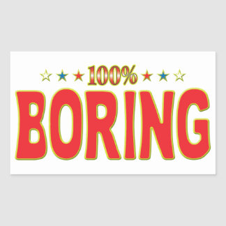 Boring Star Tag Rectangular Sticker