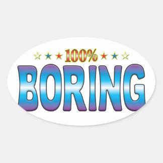 Boring Star Tag v2 Oval Sticker