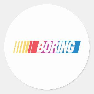 Boring Round Sticker