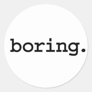 boring. round stickers
