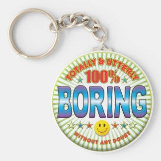 Boring Totally Basic Round Button Key Ring