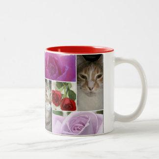 boris catenov-tabby toes Two-Tone coffee mug