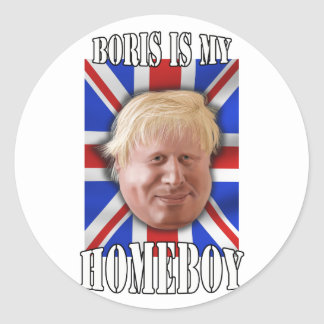 "Boris Johnson, ""Boris is my homeboy"" Mayor Round Sticker"