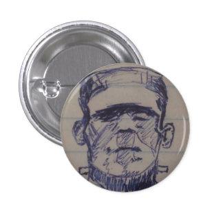 Boris Karloff, Frankenstein's Monster, Sketchbook 3 Cm Round Badge