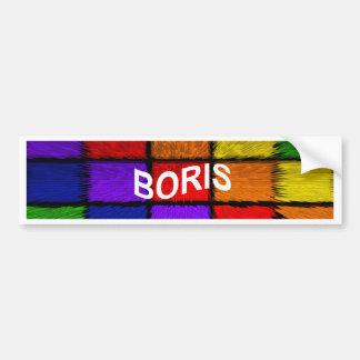 BORIS ( male names ) Bumper Sticker