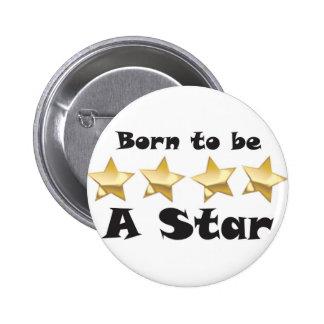 Born2BStar 6 Cm Round Badge