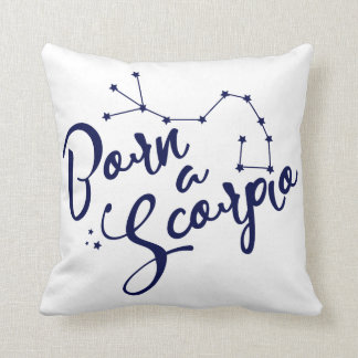 """Born a Scorpio"" Zodiac Constellation Pillow"