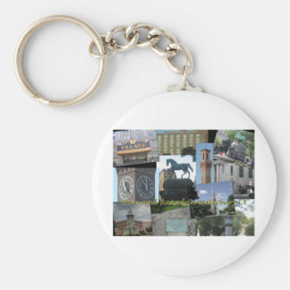 Born and Raised in Waterbury CT Basic Round Button Key Ring