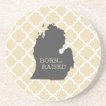 Born and Raised Michigan Coasters