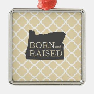 Born and Raised Oregon Christmas Ornament