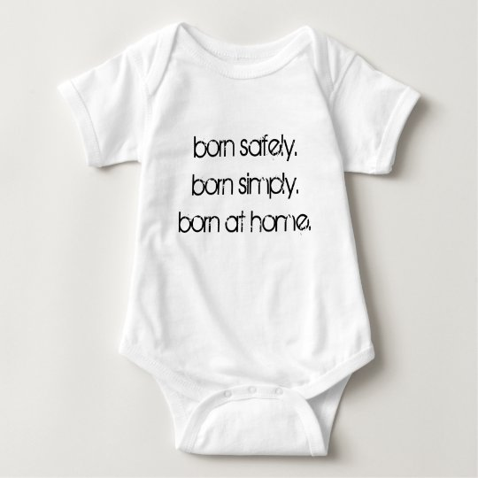 Born at home baby bodysuit
