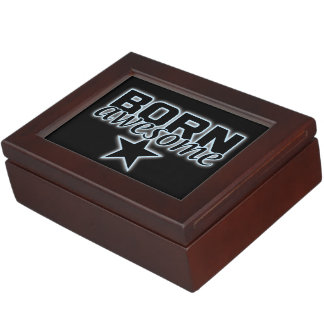 Born Awesome custom keepsake box