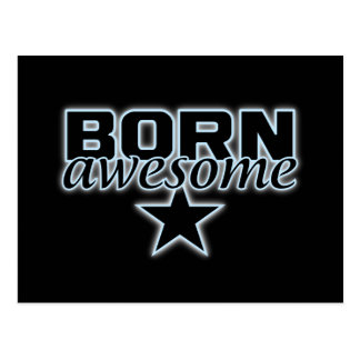 Born Awesome postcard