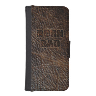 Born Bad picture of genuine leather iPhone SE/5/5s Wallet Case