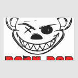 Born Bad Rectangle Stickers