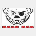 Born Bad Rectangular Sticker