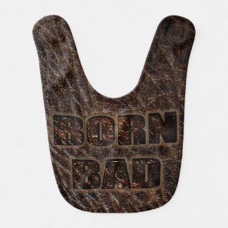 Born Bad unusual look as genuine leather baby bib