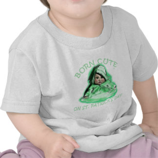 Born Cute on St Patricks Day Products Shirts