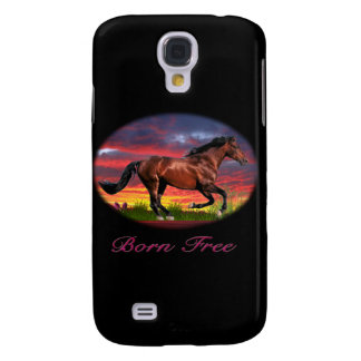 Born free horse art galaxy s4 case