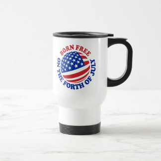 Born Free on the Forth of July Coffee Mugs