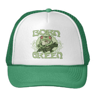 Born Green Enviro Frog by Mudge Studios Trucker Hat