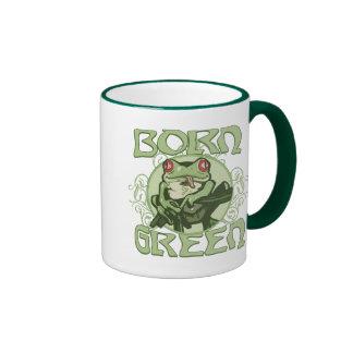 Born Green Enviro Frog by Mudge Studios Mugs