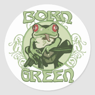 Born Green Enviro Frog by Mudge Studios Stickers