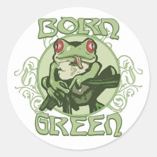 Born Green Enviro Frog by Mudge Studios Stickers