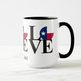 BORN, HOME, LOVE Austin Texas Coffee Mug 15oz