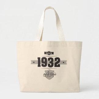 Born in 1932 Dark Lightgrey Tote Bags