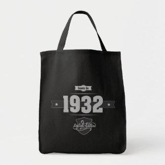 Born in 1932 Light Darkgrey Canvas Bags
