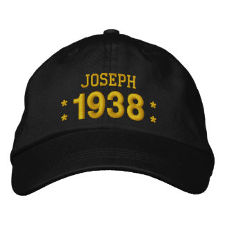 Born in 1938 or Any Year 80th Birthday V09A BROWN Baseball Cap
